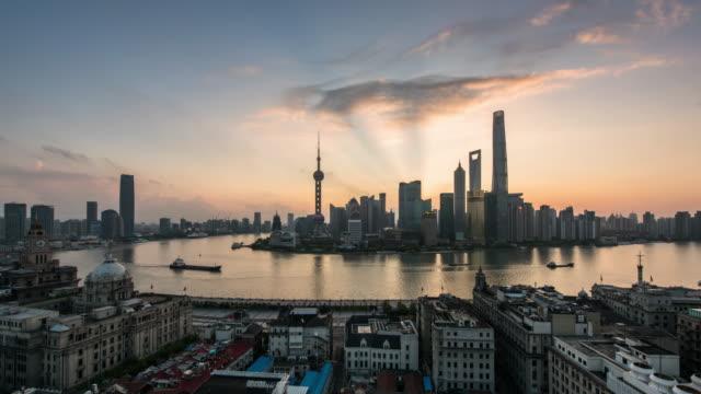 Shanghai cityscape 4k TimeLapse ,sunrise