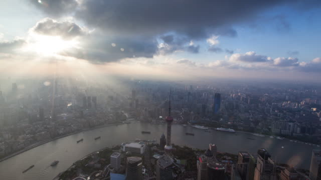 Shanghai cityscape 4k TimeLapse,sunset ,2016