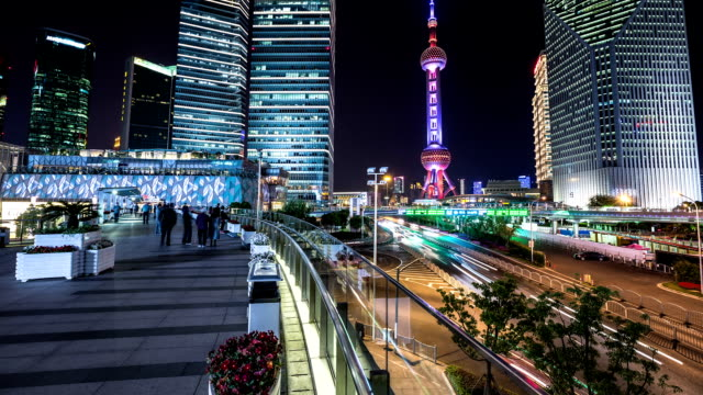 t/l ws tu shanghai cityscape - shanghai stock videos & royalty-free footage