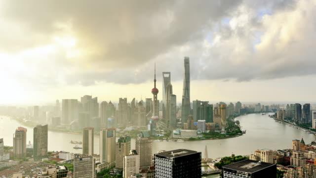 vídeos y material grabado en eventos de stock de 4k: vista del paisaje urbano de shanghái al amanecer al lapso de tiempo del día, china - shanghái