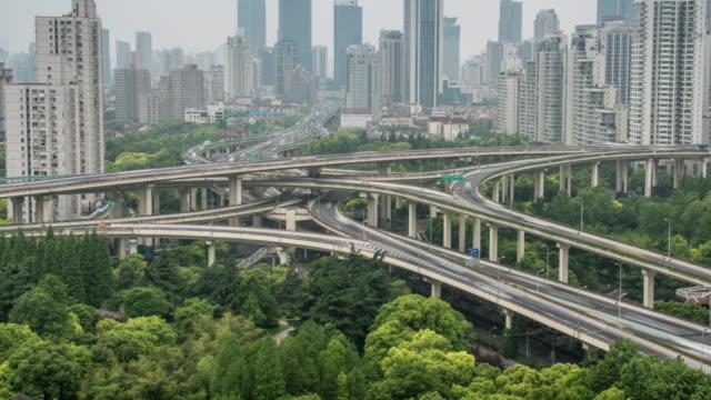 Shanghai cityscape,4k time lapse