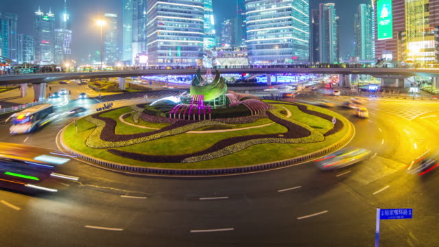 Shanghai downtown time lapse