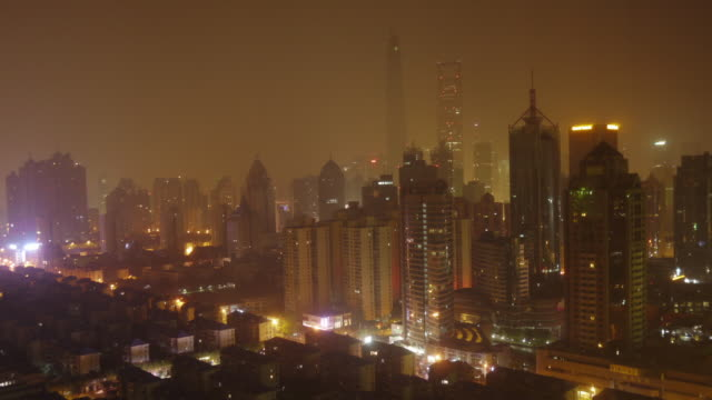 shanghai downtown timelapse - night to day on a fairly clear day. - bottle opener stock videos & royalty-free footage