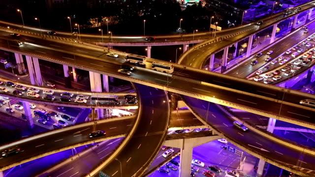 Shanghai autostrada di notte