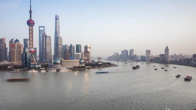 shanghai huangpu river time lapse - river huangpu stock videos & royalty-free footage