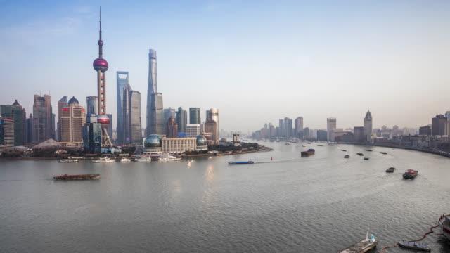 shanghai huangpu river time lapse