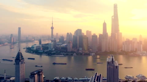 vídeos y material grabado en eventos de stock de mañana de shanghai señal antena - shanghái
