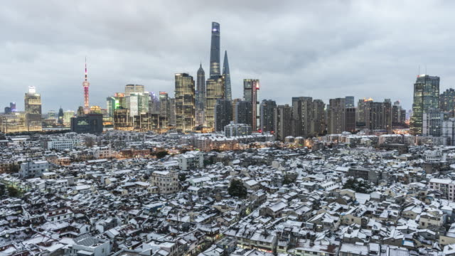 Shanghai landscape after Snowstorm