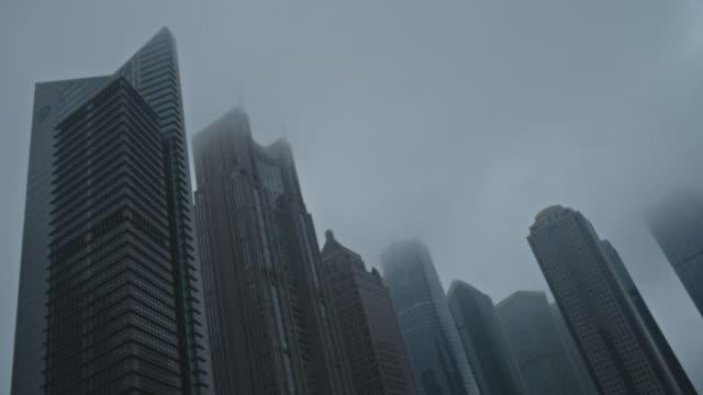 shanghai lujiazui financial district - 景気後退点の映像素材/bロール