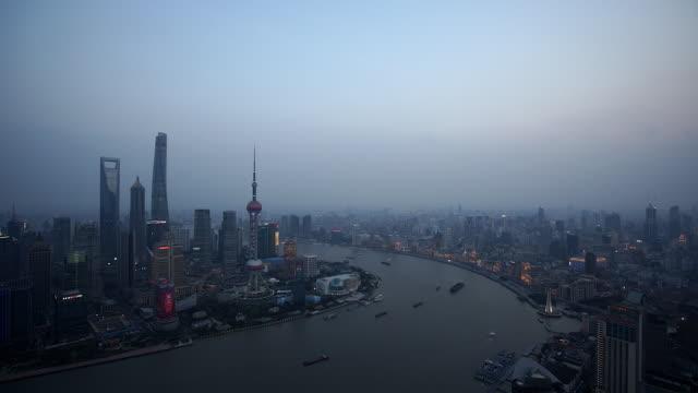 vídeos de stock, filmes e b-roll de shanghai morning - torre oriental pearl