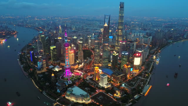 shanghai night - shanghai stock videos & royalty-free footage