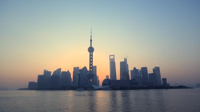 WS Shanghai Pudong at sunrise