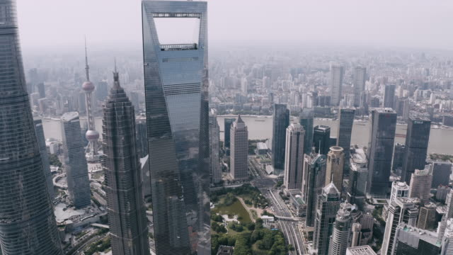 shanghai pudong cityscape - building exterior stock videos & royalty-free footage