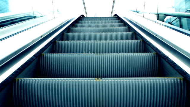 shanghai pudong pedestrian crossing escalator - escalator stock videos & royalty-free footage