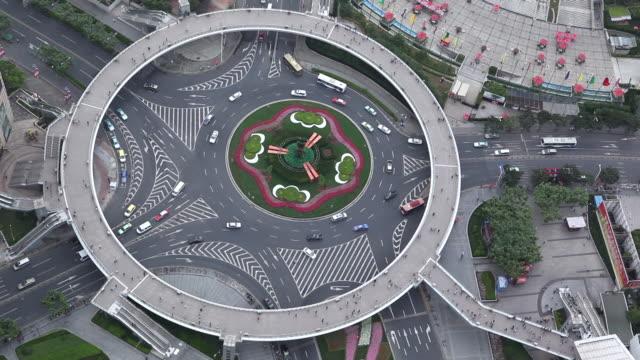 Shanghai roundabout traffic