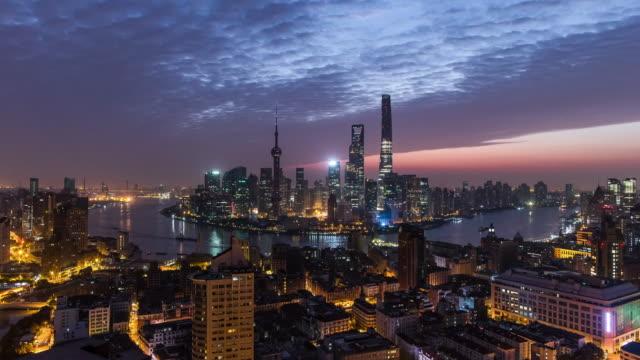 4K Shanghai Skyline At Dawn