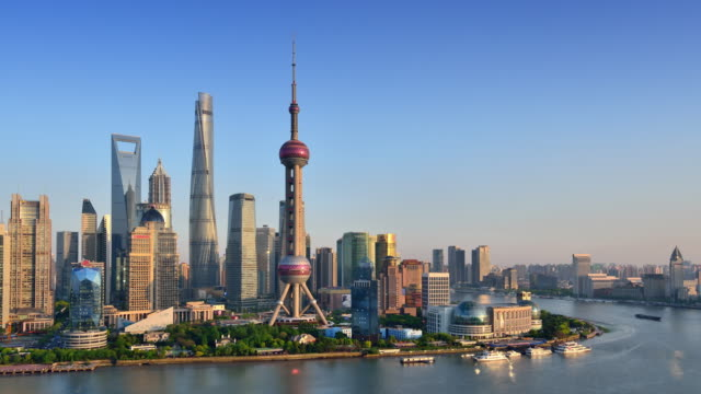 Shanghai Skyline from Day to Night