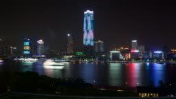 Shanghai Skyline Night Timelapse