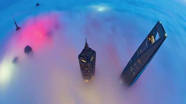 vídeos de stock, filmes e b-roll de 4k: xangai na estratosfera nuvem, china - grosso
