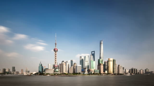 t/l ws shanghai skyline / shanghai, china - the bund stock videos & royalty-free footage