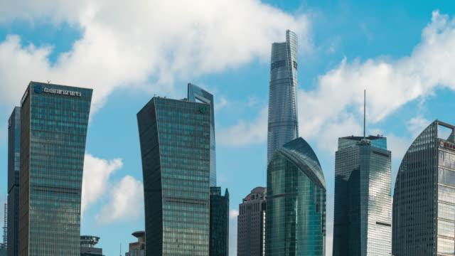 shanghai skyline - time lapse - 東方明珠塔点の映像素材/bロール