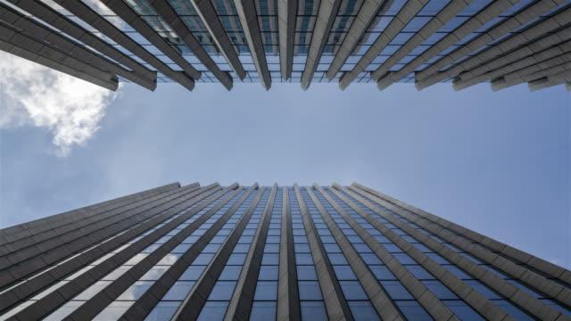 shanghai skyline under the typhoon - curtain wall facade stock videos and b-roll footage