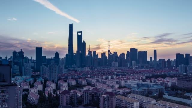 shanghai skyline - 東方明珠塔点の映像素材/bロール