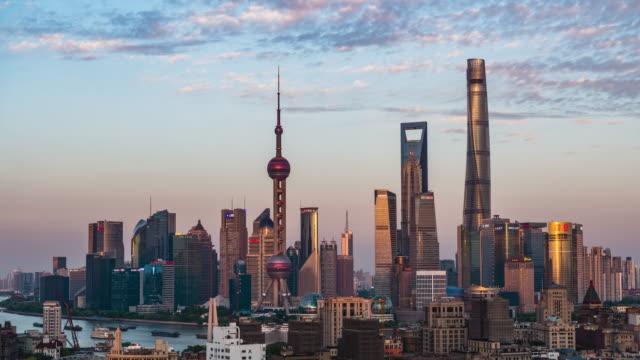 shanghai skyline - east china stock videos & royalty-free footage