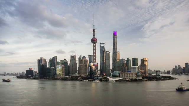shanghai skyline - shanghai tower stock videos & royalty-free footage