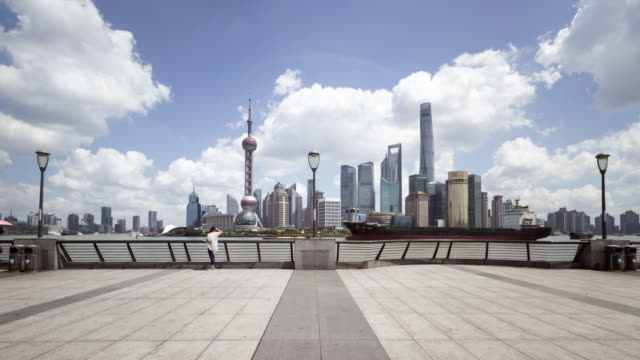 shanghai skyline - shanghai world financial center stock videos & royalty-free footage