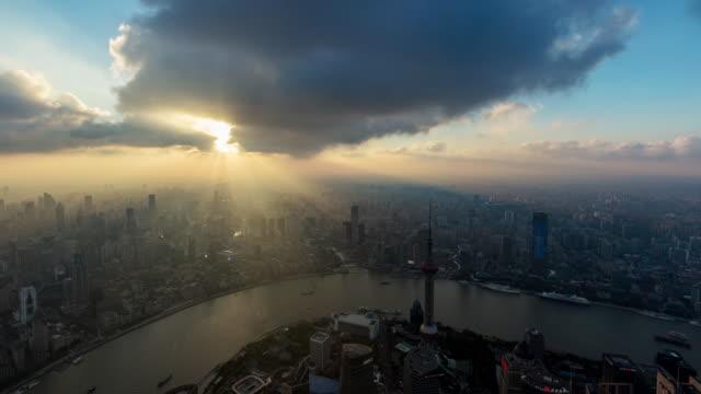 shanghai skyline - river huangpu stock videos & royalty-free footage