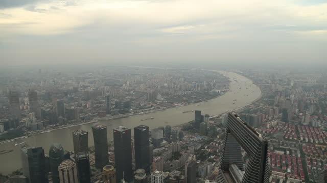 ws ha shanghai skyline - river huangpu stock videos & royalty-free footage