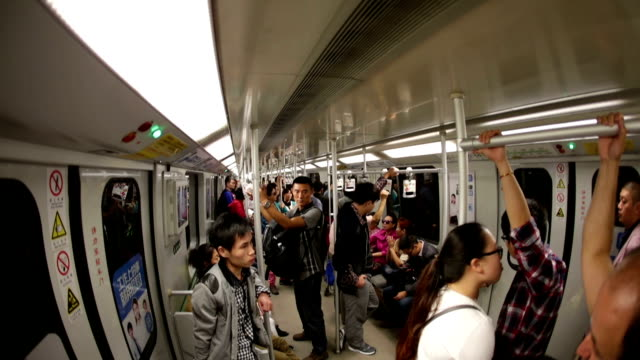 shanghai subway hyperlapse - compartment stock videos & royalty-free footage