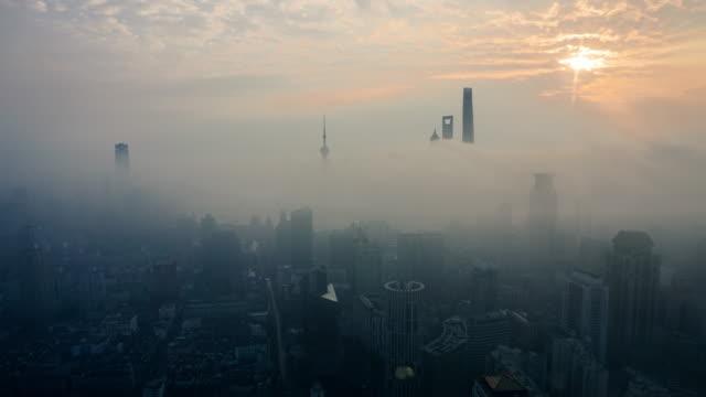shanghai sunrise fog time lapse