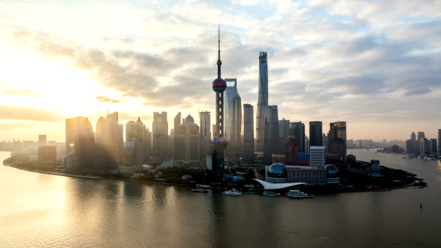 t/l ws ha shanghai sunrise / shanghai, china - shanghai stock videos & royalty-free footage