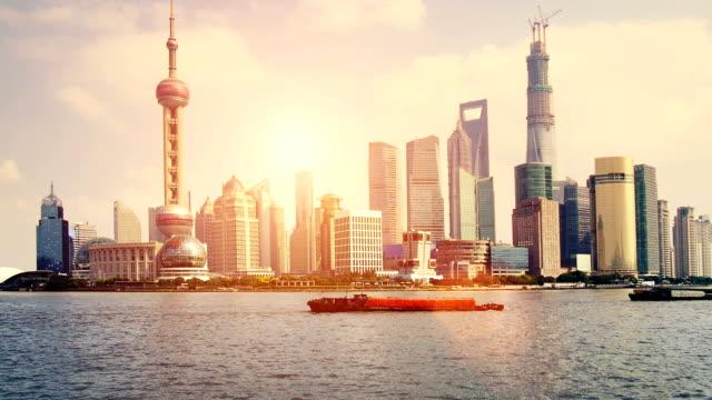 shanghai sunrise - shanghai stock videos and b-roll footage