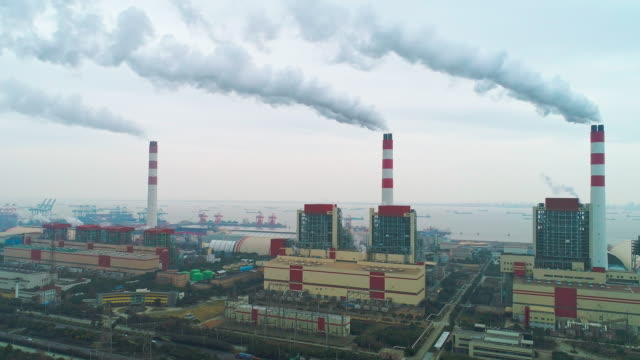 shanghai waigaoqiao power plant - social issues stock videos & royalty-free footage