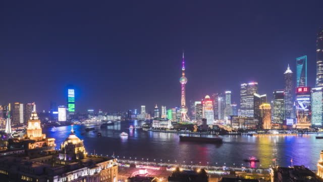 shanghai world financial district in china - china east asia stock videos & royalty-free footage
