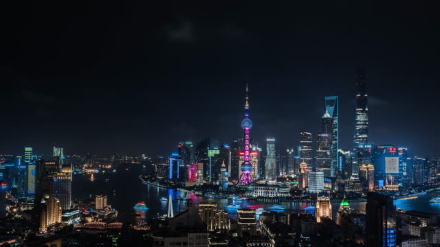 shanghai world financial district in china - shanghai stock videos & royalty-free footage