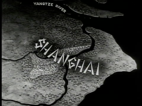 map 'shanghai yangtze river' illustrated map - 1937 stock videos and b-roll footage