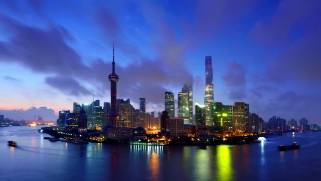 4k: shanghai's panoramic landscape, china - finance and economy stock videos and b-roll footage