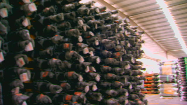 shanghen, chinainventory stacked in warehouse - warehouse点の映像素材/bロール