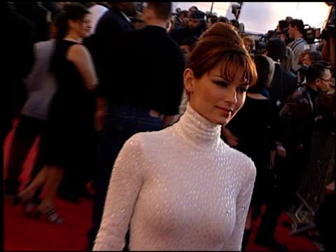 Shania Twain at the 1999 Grammy Awards at the Shrine Auditorium in Los Angeles California on February 24 1999