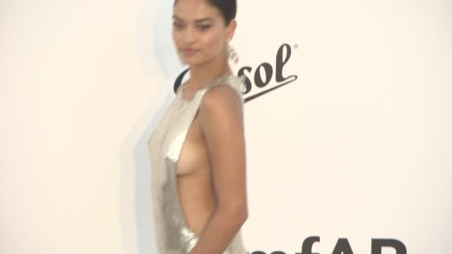 shanina shaik at amfar gala cannes 2017 at hotel du capedenroc on may 25 2017 in cap d'antibes france - amfar stock videos & royalty-free footage