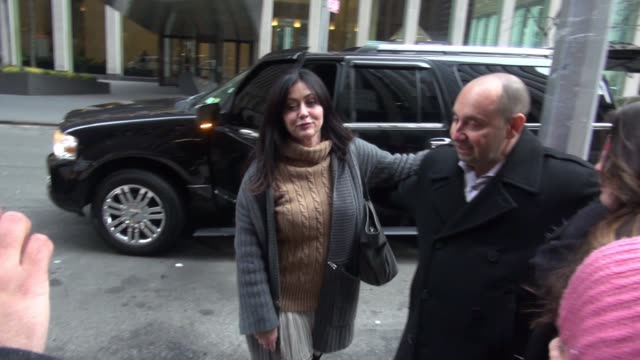 Shannen Doherty and Holly Marie Combs at SiriusXM Satellite Radio pose for photos with fans in Celebrity Sightings in New York