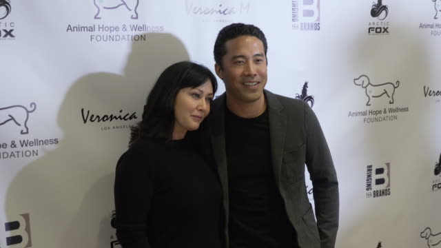 Shannen Doherty and Marc Ching at The Compassion Project Gala at Playa Studios on March 03 2019 in Culver City California