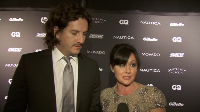 Shannen Doherty on being out to support her date GQ photographer at the GQ's The Gentlemen's Ball at New York NY