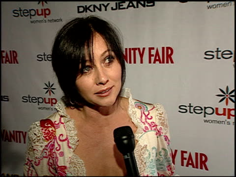 Shannen Doherty on promoting her mini series 'Category 7' and directing a new film at the DKNY Jeans and Vanity Fair in Concert Young Hollywood turns...