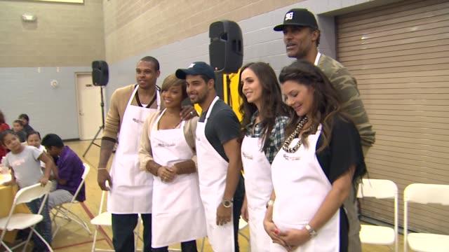 Shannon Brown Monica Brown Wilmer Valderrama Eliza Dushku Rick Fox Ali Landry at the The Cheesecake Factory Helps KickOff Feeding America's Hunger...