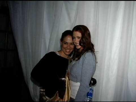 Shannon Elizabeth and guest at the Motorola's 2nd Annual Late Night Lounge at Motorola Lodge in Park City Utah on January 23 2005